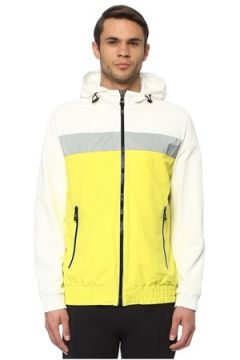 Network Erkek Slim Fit Beyaz Renk Bloklu Sweatshirt L EU(114438518)