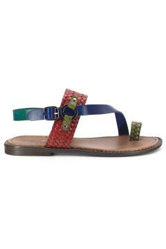 Eşle 20y 111-1 Hakiki Deri Kadın Sandalet Karışık/çok Renkli(110970008)