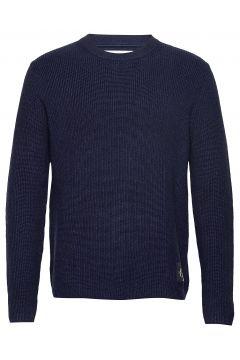 Two T Cotton Cn Sweater Strickpullover Rundhals Blau CALVIN KLEIN JEANS(116667183)