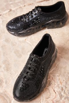 Bambi Kadın Siyah Sneaker(124597005)