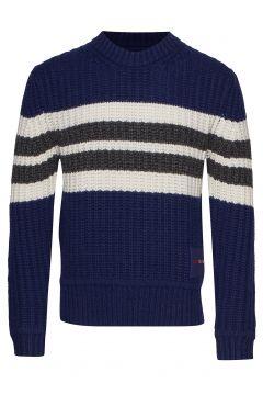 Stripe Front Cn Sweater Strickpullover Rundhals Blau CALVIN KLEIN JEANS(114157156)
