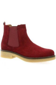 Bottines Exit Boots cuir velours bdeaux(127902241)