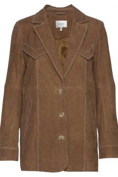 Elliegz Jacket Hs20 Lederjacke Braun GESTUZ(116611884)