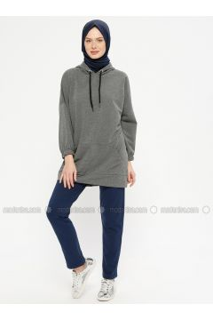 Navy Blue - Cotton - Tracksuit Bottom - Marwella(110332579)