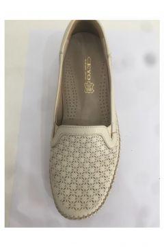 Ceyo 9921-6 Bej Kadın Anatomik Ayakkabı(110940851)