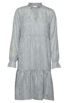 Dress Long Sleeved W. Frill At Neck Kleid Knielang Blau COSTER COPENHAGEN(114163460)