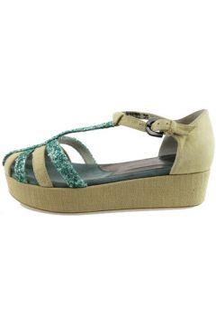 Sandales Alberto Guardiani sandales beige daim vert glitter AH784(88521346)