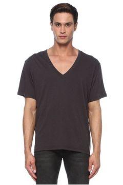 Isabel Marant Erkek Antrasit Melanj V Yaka Basic T-shirt Gri S EU(118330189)