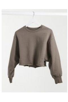 Pull&Bear - Felpa modello corto senza cuciture kaki-Verde(122684426)