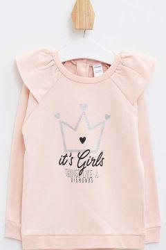 DeFacto Kız Bebek Baskılı Fırfır Detaylı Sweatshirt(119061518)