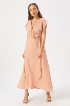 Vero Moda Pembe Düz Elbise(113981005)