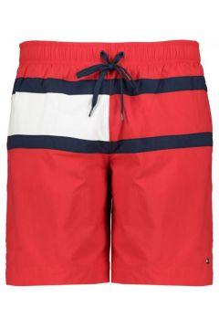 Tommy Hilfiger: Badeshort in den Herstellerfarben, 4XL, Rot(108830228)