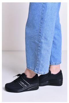 All Force Dolgu Topuklu Kadın Ayakkabı Yüksek Taban Topuk Spor(110933489)