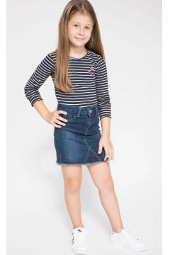 DeFacto Kız Çocuk Mini Jean Etek(108639850)