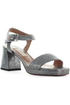 Sandales L\'autre Chose Sandale En Cuir Gris Acier(101594438)