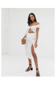 Fashion Union - Paella - Vestito da mare con spalle scoperte bianco(123210124)