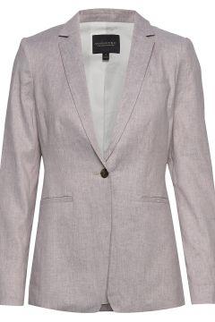 Long & Lean-Fit Linen-Cotton Blazer Blazer Jackett BANANA REPUBLIC(116469640)