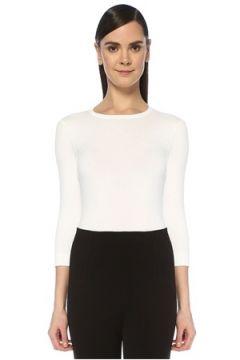 Alaia Kadın Beyaz Truvakar Kol Triko Body 40 FR(109265499)