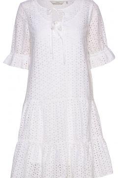 Nualzbet Ss Dress Kleid Knielang Weiß NÜMPH(114164609)