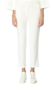 Beymen Collection Kadın Beyaz Zincir Şerit Detaylı Jersey Pantolon Bej S(123319736)