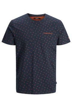 JACK & JONES Tryckt T-shirt Man Blå(111091112)