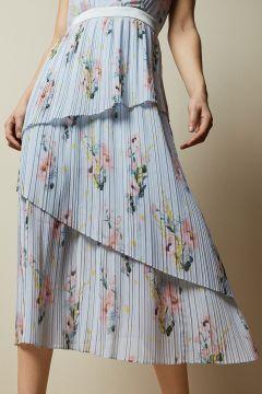 Gestuftes, Ärmelloses Kleid Mit Woodland-print(109251620)