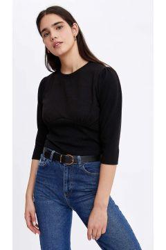 DeFacto Kadın Yazı Baskılı Omuz Detaylı Sweatshirt(125934177)