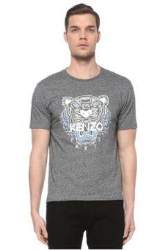 Kenzo Erkek Gri Logo Baskılı Basic T-shirt XXL EU(116665588)