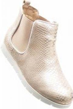 Pantofelek24.pl | Złote botki sztyblety z gumkami(112082469)
