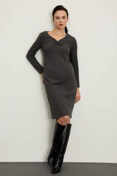 DeFacto Kadın V Yaka Hamile Elbise(125935273)