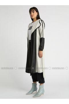 Gray - Multi - Cardigan - MOODBASİC(110339154)