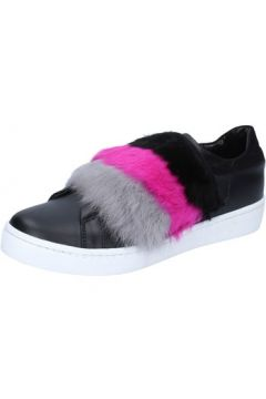 Baskets Islo sneakers noir cuir fourrure BZ213(88470237)