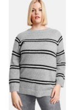 Sweter w paski Szary 44/L(115894487)
