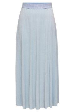 ONLY Plissée Jupe Longue Women Blue(118273589)