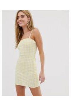 Daisy Street - Camisole-Kleid mit eckigem Ausschnitt und Vichykaromuster - Gelb(86719482)