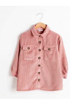 Çocuk Kız Çocuk Kadife Gömlek(125121916)