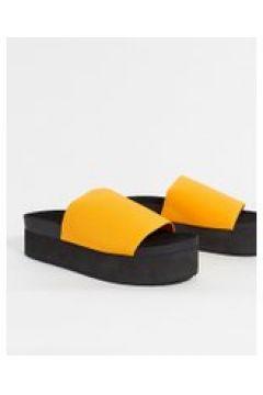 Monki - Norma - Scarpe flatformarancioni in poliestere riciclato-Arancione(120296906)