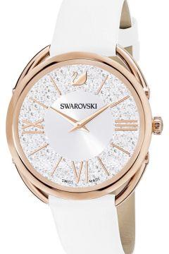Swarovski 5452459 Crystalline Glam Saat Deri Kayış Beyaz Rose Altın tone Saat(117652249)
