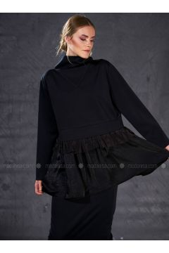 Crew neck - Black - Sweat-shirt - Eda Atalay(110331489)