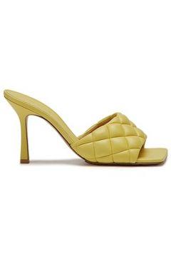 Bottega Veneta Kadın Sarı Kapitone Örgü Bantlı Deri Terlik 37 EU(120138908)