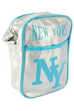 Sac Bandouliere Hip Hop Honour Sacoche NY Grise et Turquoise streetwear(115396907)