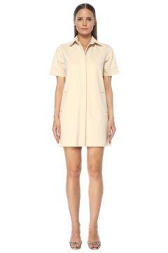 Network Kadın Ekru İngiliz Yaka Mini Denim Elbise Bej S EU(118330164)
