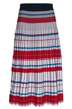 Pleated Knit Midi Skirt Knielanges Kleid Bunt/gemustert BANANA REPUBLIC(114163680)
