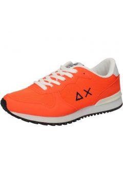 Chaussures Sun68 sneakers orange textile daim AB792(115393862)