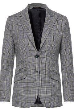 Delores Checked Blazer Blazer Jackett Blau MORRIS LADY(114152057)