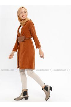 Tan - Cotton - Cardigan - Beha Tesettür(110328414)