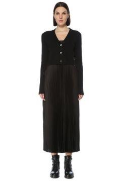 Allsaints Kadın Andrea Siyah Hırka Detaylı Midi Elbise S EU(126795829)