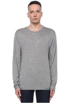 Allsaints Erkek Relaxed Fit Quinn Gri Melanj T-shirt XS EU(107864097)