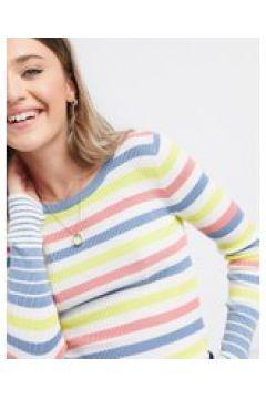 JDY - Lunni - Maglione basic a righe color pesca-Rosa(120377722)