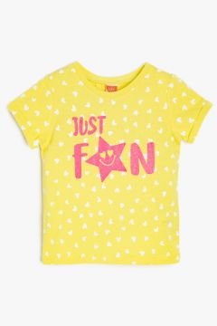 Koton Sarı Baskılı T-Shirt(113977992)